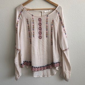EUC LUSH Clothing Tribal Geometric Print Top SZ XL